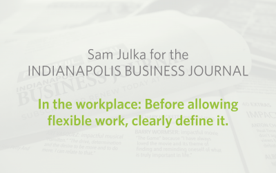 In the workplace: Before allowing flexible work, clearly define it
